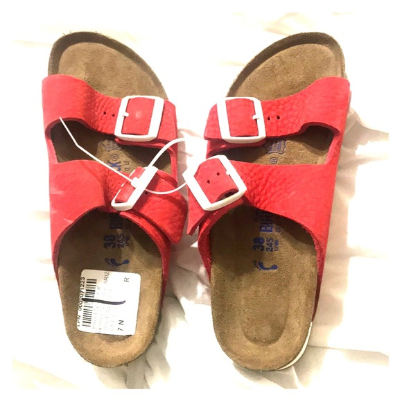 Birkenstock women's size 7 or size 38 red sandals NWT